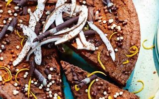 Photo: Chocolate, coconut and orange torte