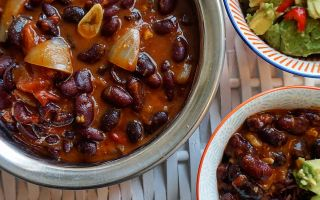 Photo: Smoky Kidney Bean Chilli with black cardamon