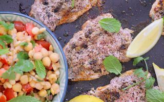 Photo: Sumac sardines with smashed chickpea salsa
