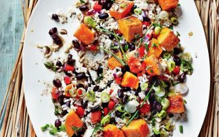 Photo: Caribbean Allspice Salad with Pumpkin and Black Beans