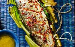 Photo: Sea Bass with Coriander and Chilli