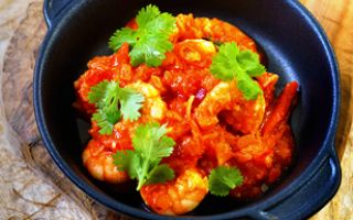 Photo: King Prawn Rougaille (Spicy Creole Sauce)