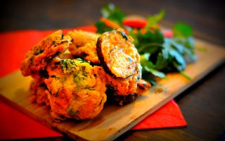 Photo: Spicy Aubergine Fritters