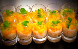 Photo: Sticky Rice with Mango, Papaya and Lime